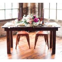 Wooden Leg Sweetheart Table - 5 ft