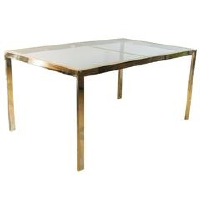 Brass & Glass Table