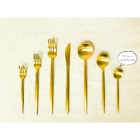 New Deco Gold  Dessert Spoon