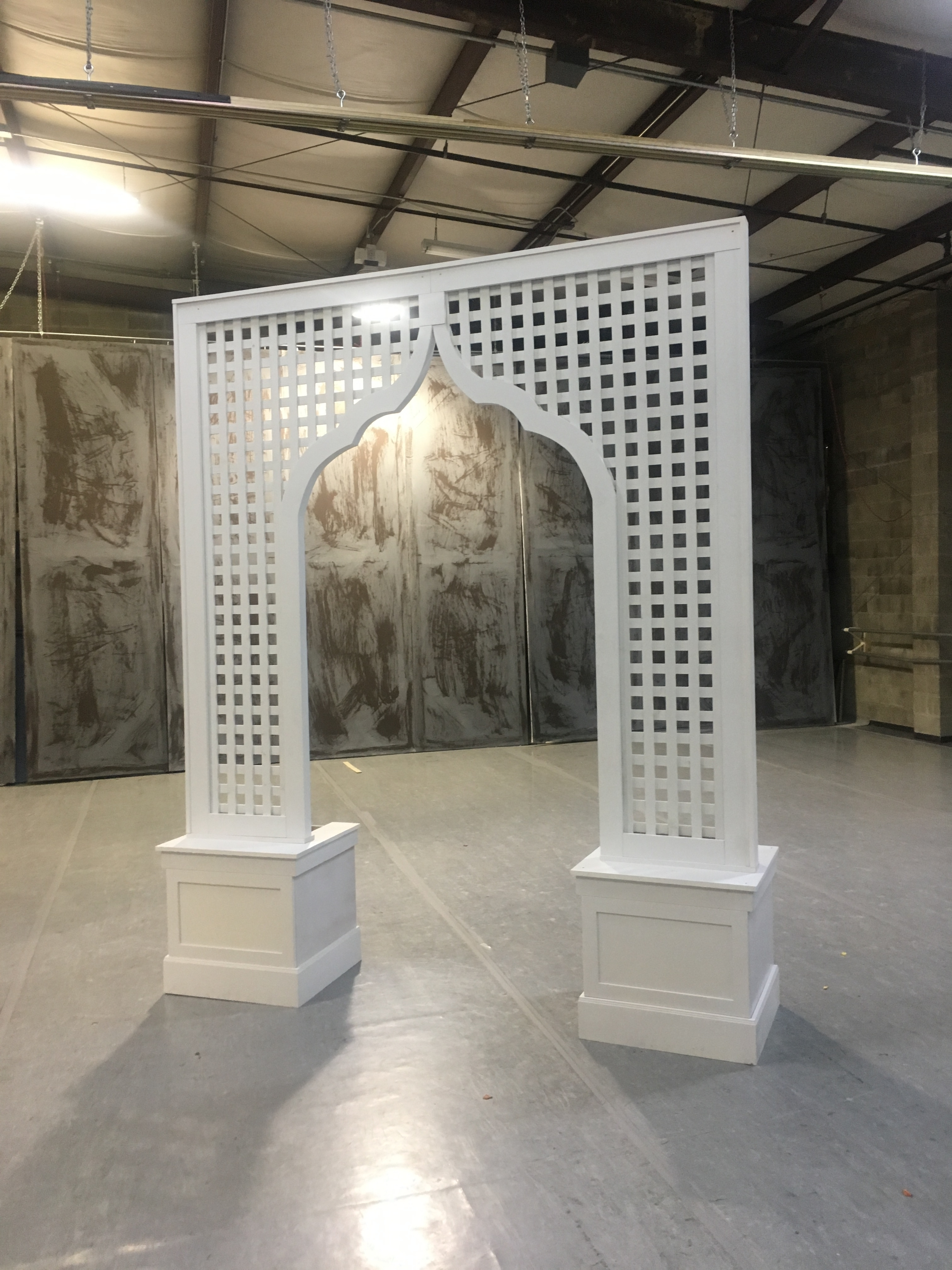 Moroccan White Trellis Arch