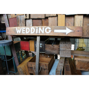 The Wedding Sign - Pointing Right