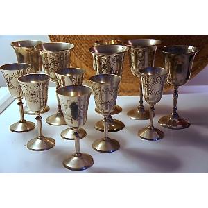 Silver Wine Goblet Set Of 11