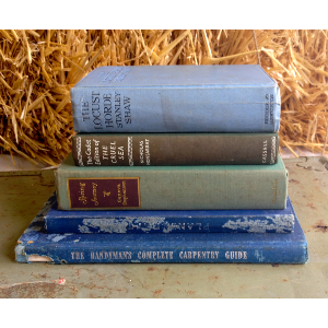 Stack of Blue/Green Books