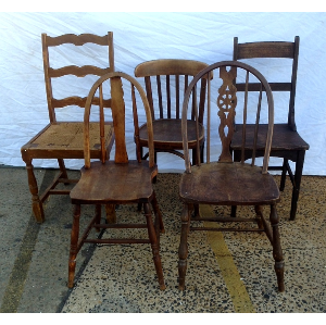 Dark Timber Eclectic Chairs
