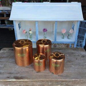 Copper Storage Tins