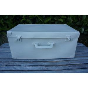 Medium Snowy White Suitcase