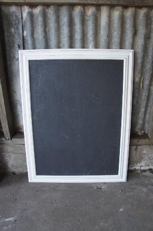 Large White Framed Blackboard