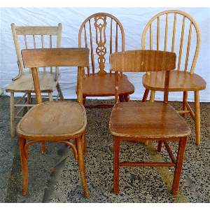 Blonde Timber Eclectic Chairs