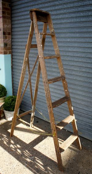 Timber A-frame ladder