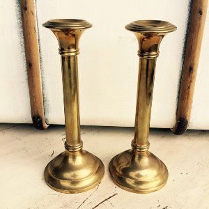 Siena Set of 2 Brass Candlesticks