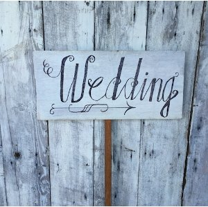 Wedding Sign - Pointing Right