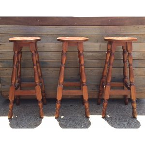 Brown Timber Bar Stool