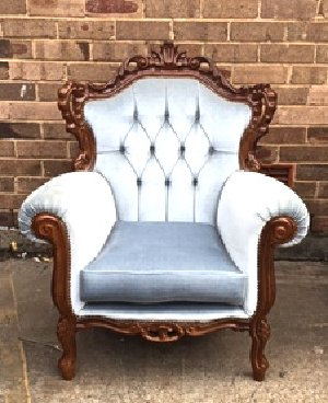 Snow Blue Armchair