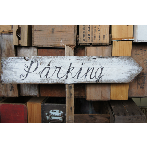 Parking Sign - Pointing Right