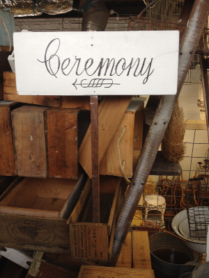 Ceremony Sign - Pointing Left