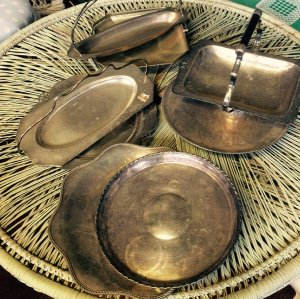 Small Silver Serving trays