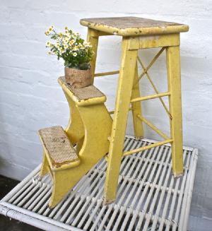 Sunny Vintage Kitchen Fold Up Stool