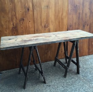Chester Rustic Vintage Trestle Table
