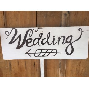 Wedding Sign - Pointing Left