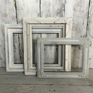 Small Ornate White Picture Frame