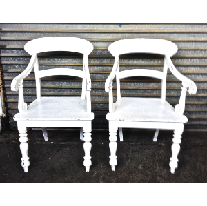 White Oswald Chairs