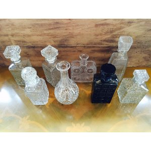 Crystal and Glass Decanter
