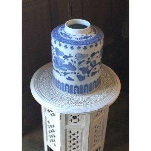 Blue and White Vine Vase