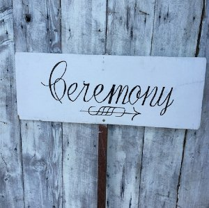 Ceremony Sign - Pointing Right