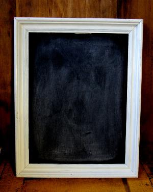 Small White Framed Blackboard