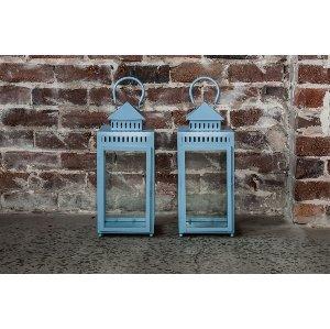 Snow Blue Garden Lanterns