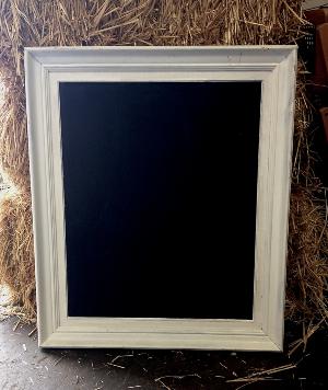 Medium White Framed Blackboards