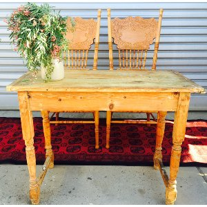 Blond Rustic Signing Table