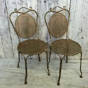 Vintage French Coeur D'Or Chairs