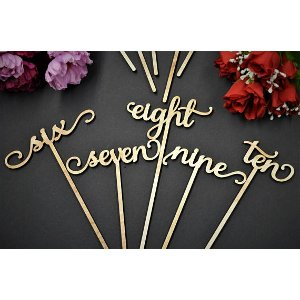 Written Wooden Table Numbers