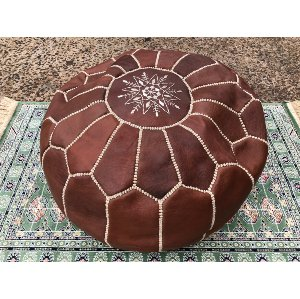 Leather boho cushion
