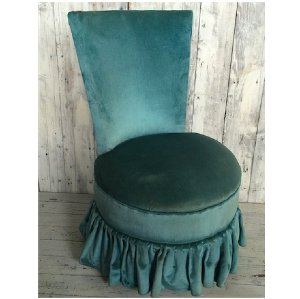 Blue Wren Velvet Boudoir Chair
