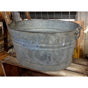 Large Oval Zinc Tub