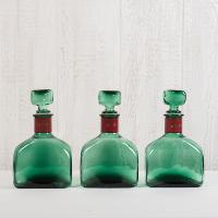 Vintage Green Decanters