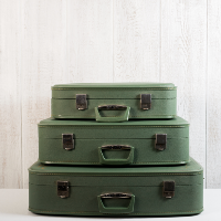 Green Vintage Suitcase set