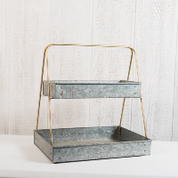 2 Tier Metal Tray