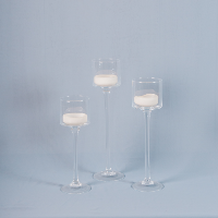 Long Stem Glass Votive   set /3