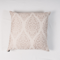 Tan damask pillow