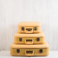 Yellow Suitcase Set