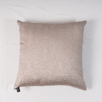 Patterned taupe pillow