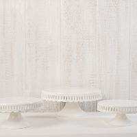 Classic White Cake Stands