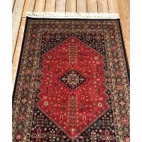 Burgundy diamond rug