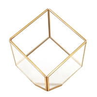 Gold Square Terrarium