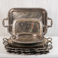 Large Silver Trays
