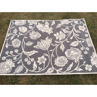 Grey Floral Carpet