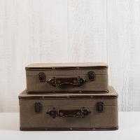 Jute Suitcase Set